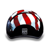 Motorcycle Helmet Half- Daytona Graphic Freedom Back