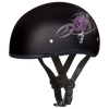 Motorcycle Helmet Half- Daytona Graphic Purple Rose Side