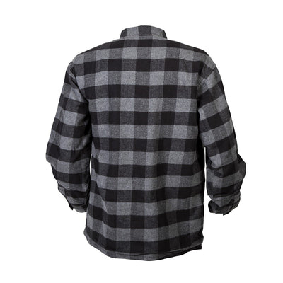 Motorcycle Jacket- Scorpion Exo Covert Flannel Black & Grey Back