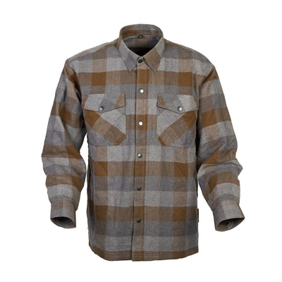 Motorcycle Jacket- Scorpion Exo Covert Flannel Brown & Grey