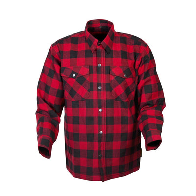Motorcycle Jacket- Scorpion Exo Covert Flannel Red & Black