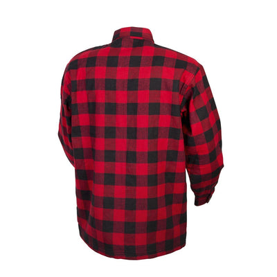 Motorcycle Jacket- Scorpion Exo Covert Flannel Red & Black Back