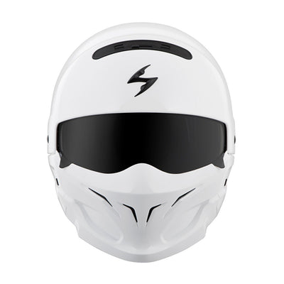 Motorcycle Helmet Full- Scorpion Exo Covert Full White Front