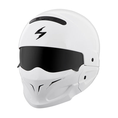 Motorcycle Helmet Full- Scorpion Exo Covert Full White