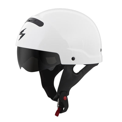 Motorcycle Helmet Full- Scorpion Exo Covert Half White