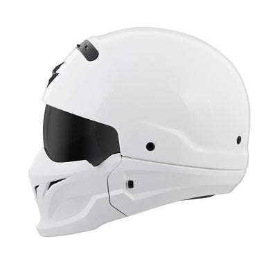 Motorcycle Helmet Full- Scorpion Exo Covert Full White Side