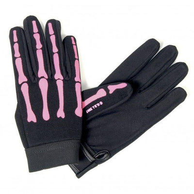 Pink Skeleton Mechanics Gloves