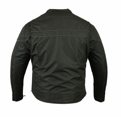Motorcycle Jacket- Daniel Smart RC705 All Season Textile Men's Jacket Back