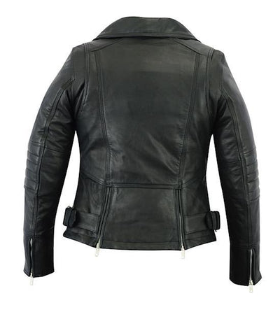 Motorcycle Jacket- Daniel Smart RC835 Women's MC Leather Jacket Back