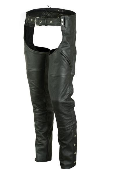 Leather Motorcycle Chaps - Renegade Classics RC410 Front