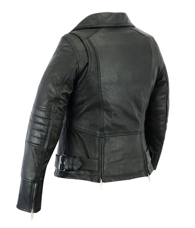 Motorcycle Jacket- Daniel Smart RC835 Women's MC Leather Jacket Back Side