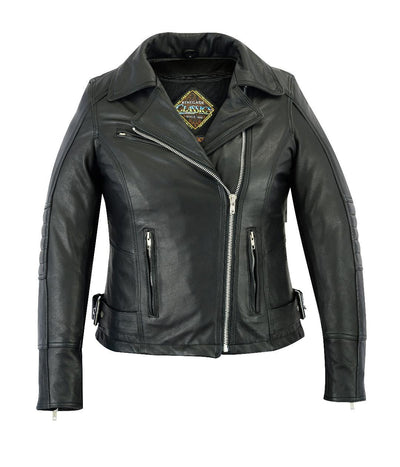 Motorcycle Jacket- Daniel Smart RC835 Women's MC Leather Jacket