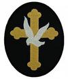 Gold Cross & Dove Patch - Large
