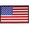 American Flag Black Border Patch