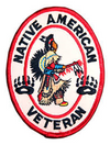 Native American Veteran Patch