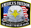 America's Freedom Right To Bear Arms Patch