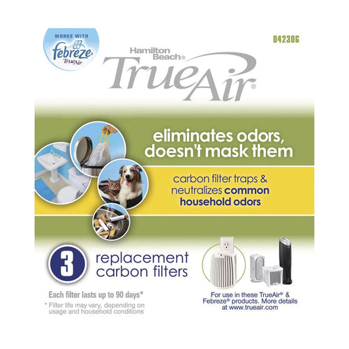 TrueAir TrueAir  Replacement Filter-General Purpose  (3 PK) /Case of  6