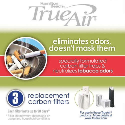 TrueAir TrueAir  Replacement Filter-Tobacco (3 PK) /Case of  6