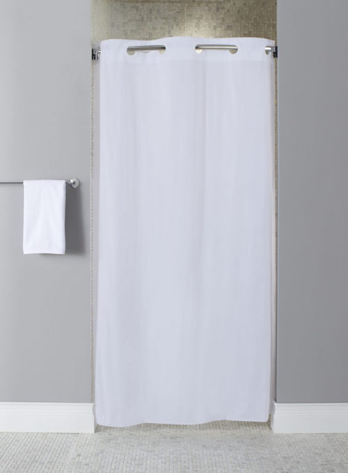 Hookless 10 GAUGE VINYL-STALL SIZE Shower Curtain - Case of 12