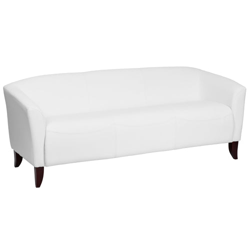 HERCULES Imperial Series White Leather Sofa [111-3-WH-GG]