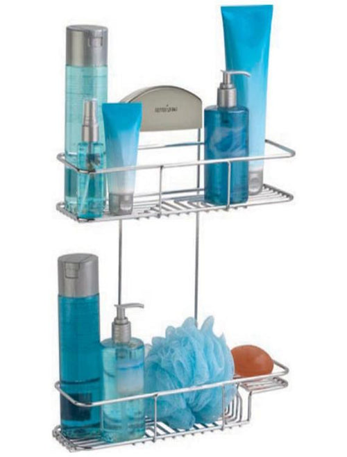 Better Living Products Stor IT 2 Tier Basket  Stainless Steel