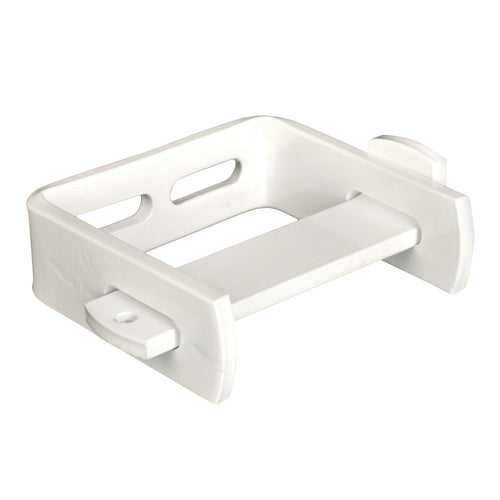 Single Roll Toilet Tissue Dispenser, Steel,  White