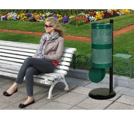 Landscape Series Waste Receptacle with Hinged Drop Bottom