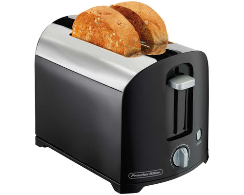 Proctor  Silex 2-Slot Toaster, Black, Model 22622-Case of  2