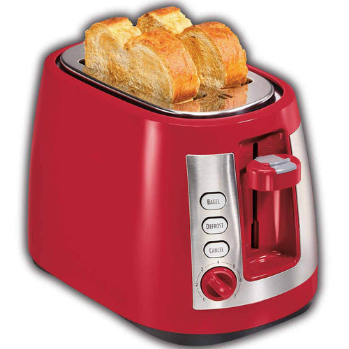 Hamilton Beach Ensemble Extra-Wide Slot 2 Slice Toaster, Red, Model 22812-Case of  2