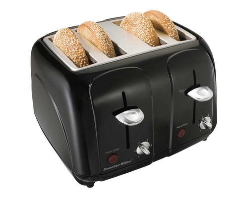 Proctor  Silex Cool-Touch 4 Slice Toaster, Black, Model 24201-Case of  2