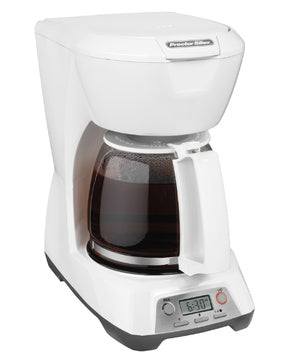 Proctor  Silex 12 Cup Coffeemaker, White,Programmable Model 43671-Case of  2