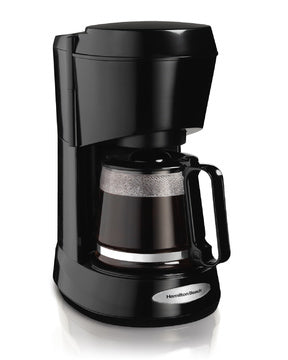 Hamilton Beach 5 Cup Coffeemaker-Black w/Glass Carafe Model 48136-Case of  4