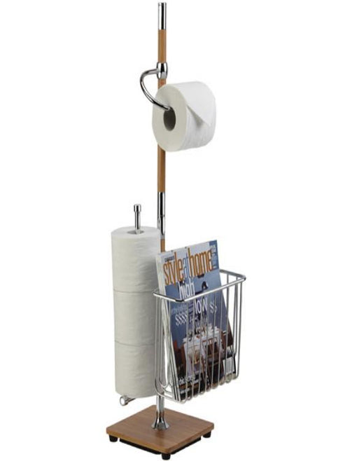 Better Living Products RichWood Bamboo Toilet Caddy Bamboo