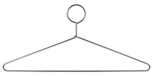Heavy Duty Closed Loop Hangers, Steel,  Chrome Plated