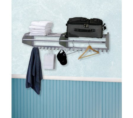 "72"" Wall Mounted Coat Rack and Hooks"
