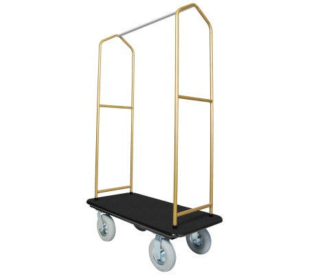 Traveler's Series Brasstone Bellman's Cart-Black Deck
