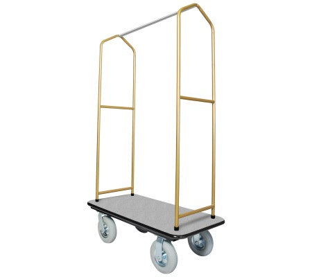 Traveler's Series Brasstone Bellman's Cart-Grey Deck