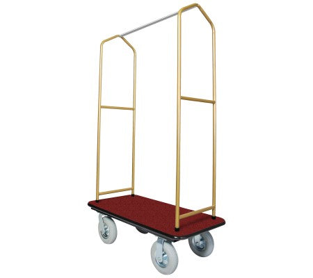 Traveler's Series Brasstone Bellman's Cart-Red Deck