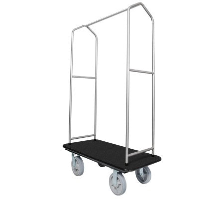 Traveler's Series Chrome Bellman's Cart-Black Deck