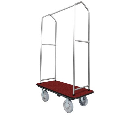 Traveler's Series Chrome Bellman's Cart-Red Deck