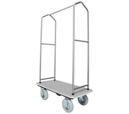 Traveler's Series Stainless Steel Bellman's Cart-Grey Deck