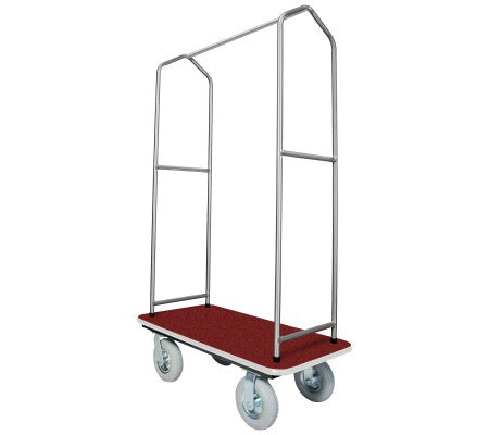 Traveler's Series Stainless Steel Bellman's Cart-Red Deck