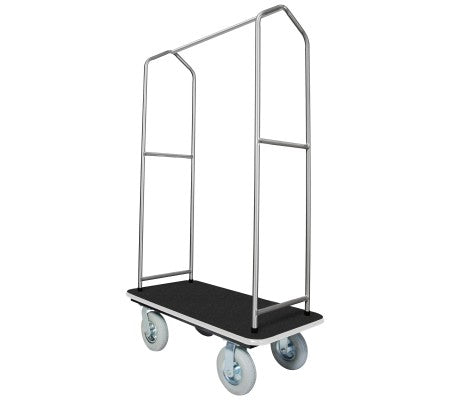 Traveler's Series Stainless Steel Bellman's Cart-Black Deck