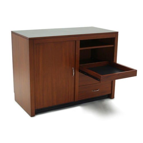 Media Cabinet with Shelf, Brown