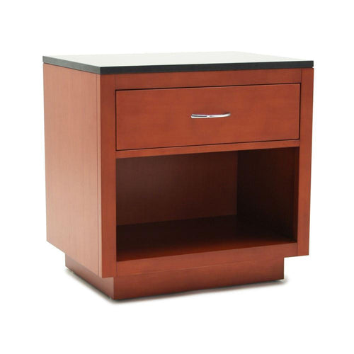 Nightstand, Light Brown with Black Top