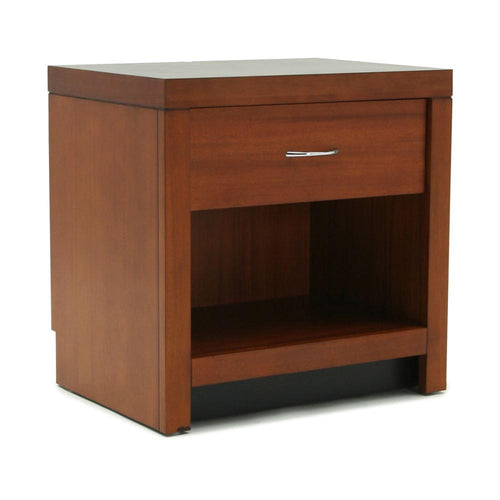 Nightstand, Single Drawer, Brown