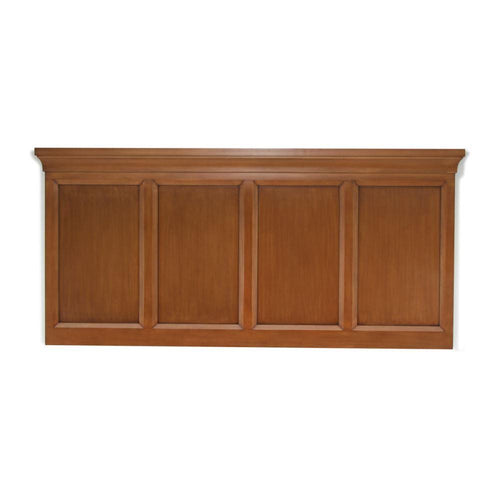 Headboard, Rectangle Design, Brown