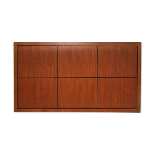 Headboard, Square Design, Cherry Brown