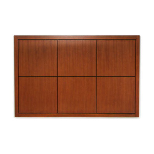 Headboard, Square Design, Dark Cherry Brown