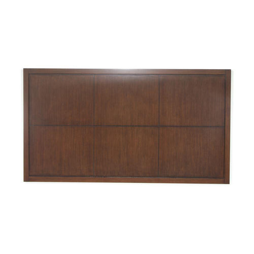 Headboard, Square Design, Chocolate Brown